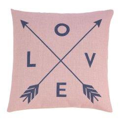 Romantic Love Pillow w/ Crossed Arrows Decorative Accent Pillow  17 x 17