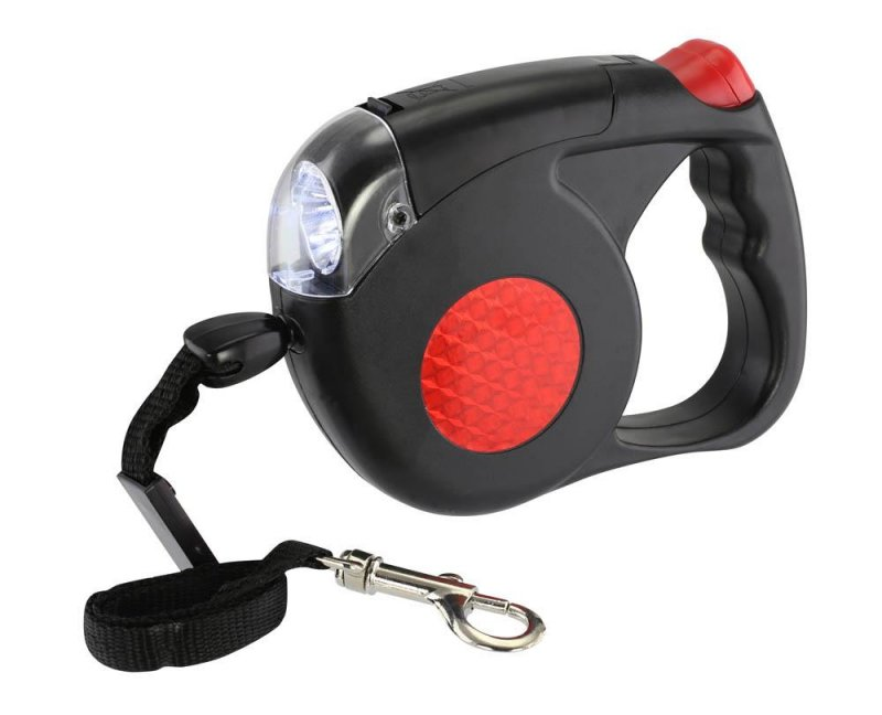 Image 0 of Retractable Dog Leash w/ LED Light Reaches 15 Feet for Dogs up to 50 Pounds