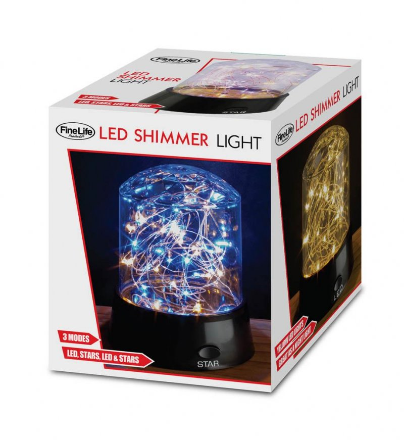 Image 0 of Tabletop Shimmer LED Stars Light Display 3 Modes Blue, Yellow, Multi-Color