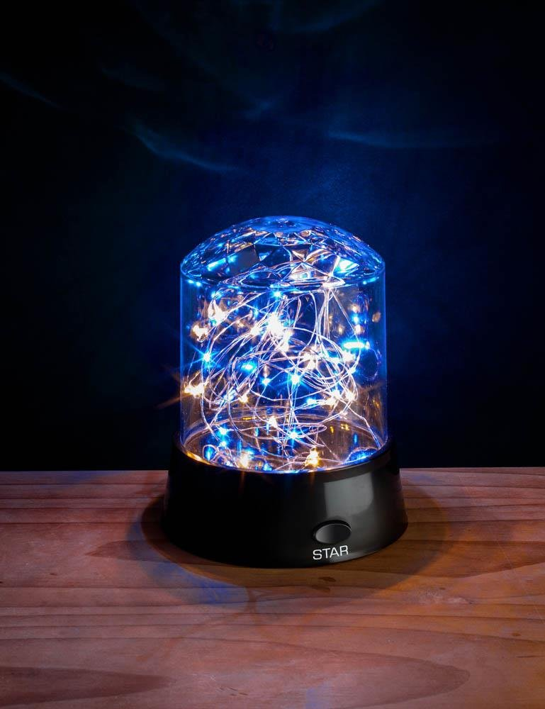 Image 2 of Tabletop Shimmer LED Stars Light Display 3 Modes Blue, Yellow, Multi-Color