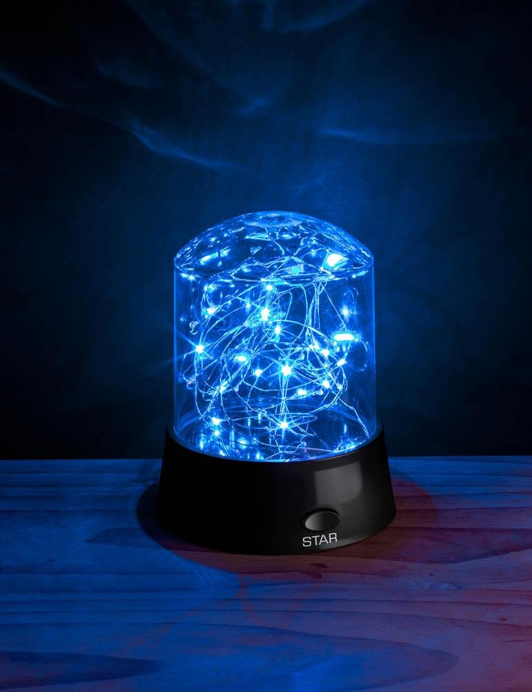 Image 3 of Tabletop Shimmer LED Stars Light Display 3 Modes Blue, Yellow, Multi-Color