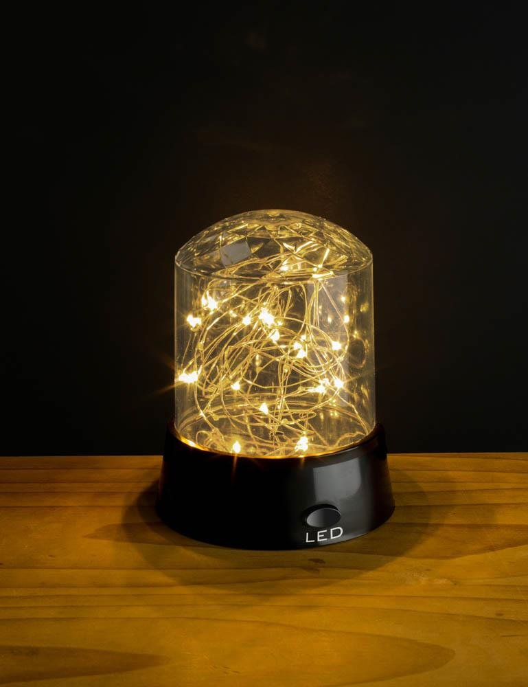 Image 4 of Tabletop Shimmer LED Stars Light Display 3 Modes Blue, Yellow, Multi-Color