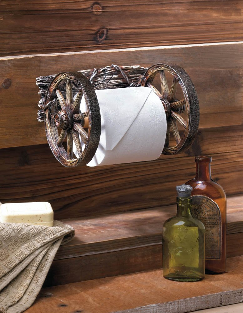 Image 0 of Wagon Wheel Toilet Paper Holder Western Decor