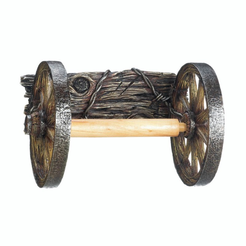 Image 1 of Wagon Wheel Toilet Paper Holder Western Decor
