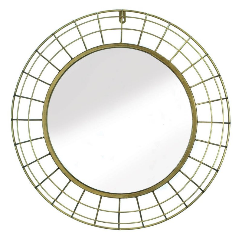 Image 0 of Golden Wire Dome Framed Wall Mirror