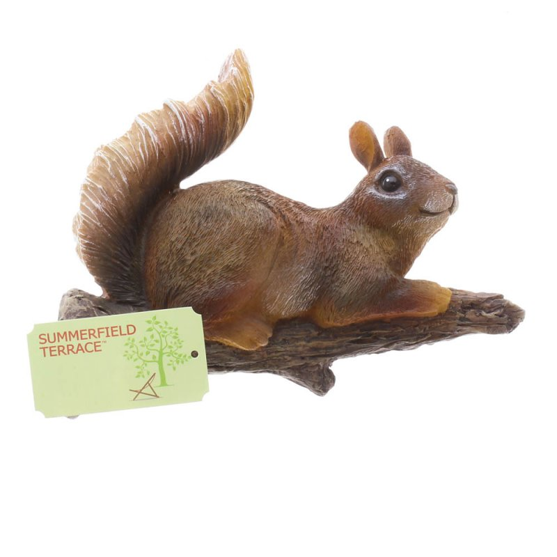 Image 2 of Playful Lounging Squirrel Garden Figurine Mounts to Tree