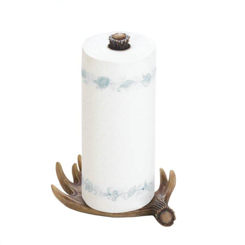 Image 3 of Faux Moose Antler Countertop Paper Towel Holder Western Decor