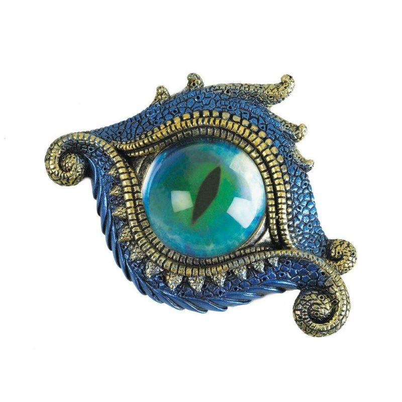 Image 4 of Blue & Gold Dragons Eye Trinket Box Symbol of Protection