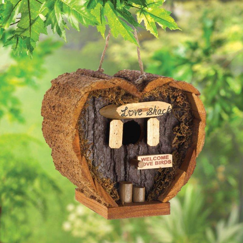 Image 0 of Heart Shaped Honeymoon Suite Love Shack Birdhouse