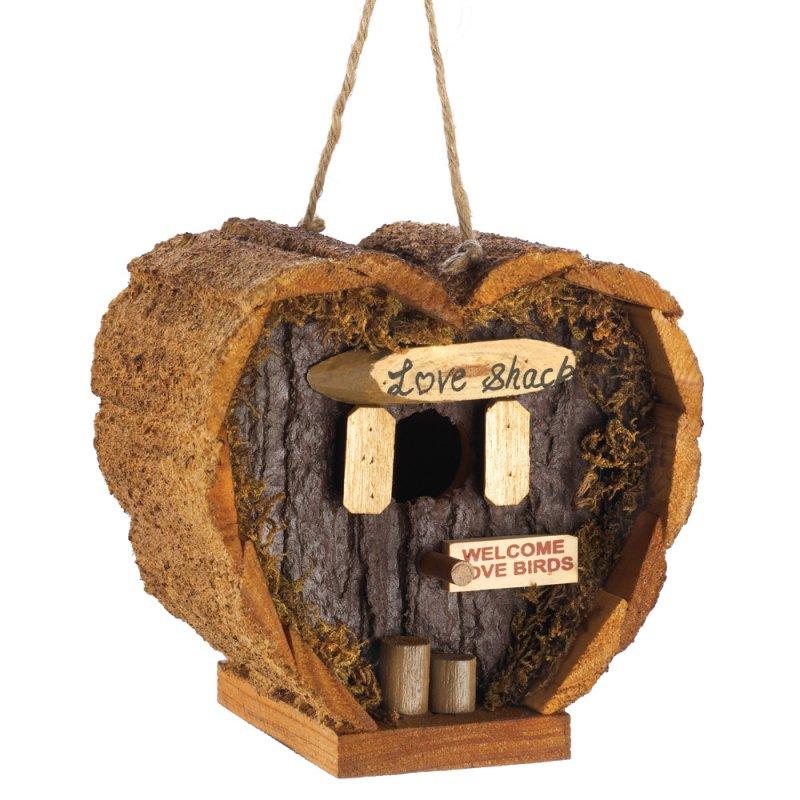Image 1 of Heart Shaped Honeymoon Suite Love Shack Birdhouse