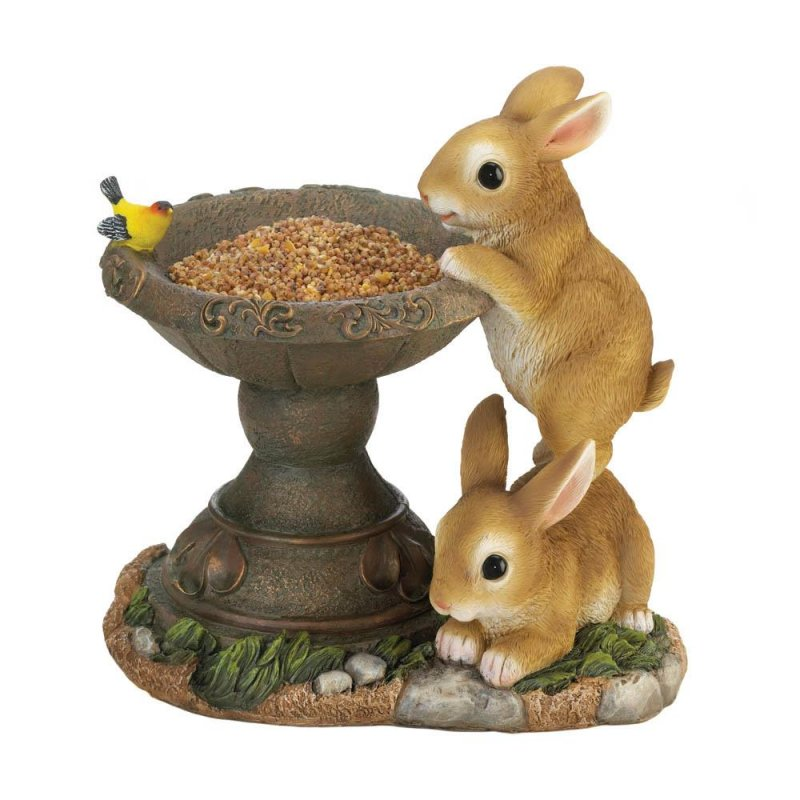 Image 0 of Playful Bunnies Bird Feeder
