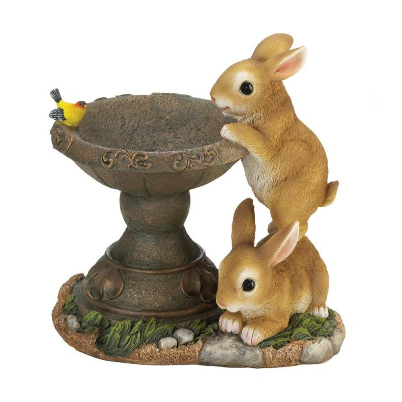 Image 1 of Playful Bunnies Bird Feeder