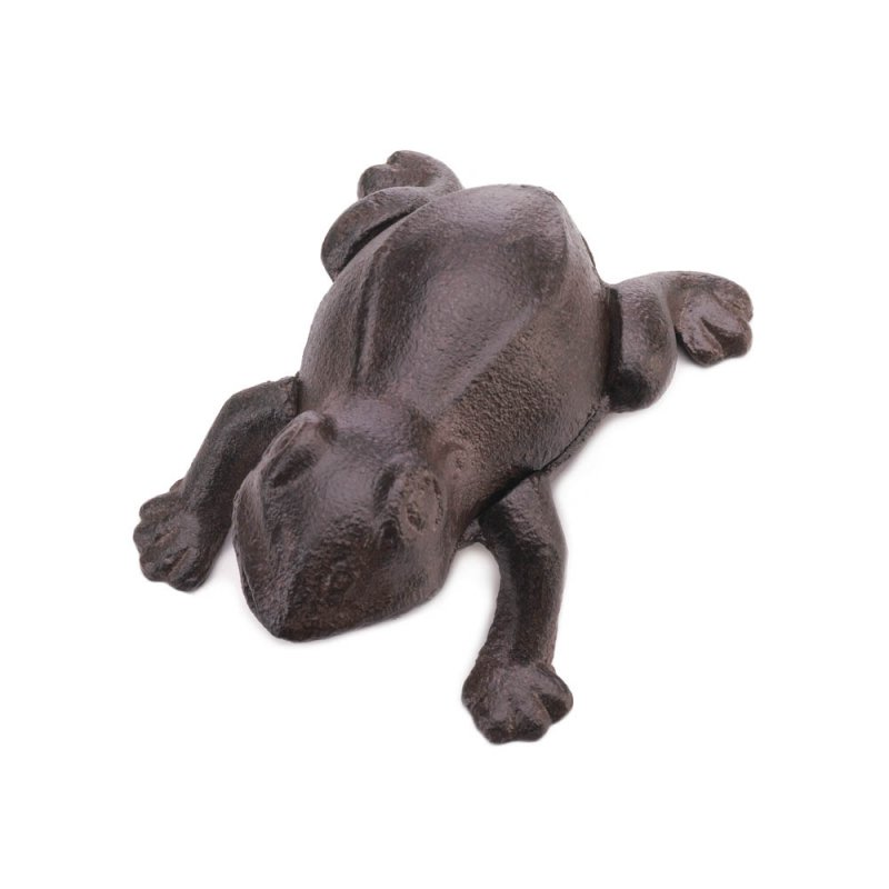 Image 0 of Cast Iron Frog Garden Key Hider Figurine Garden Decor