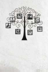 Family Tree Iron Branches Wall Photo Frames Holds Eight 4x 4 Frames Included
