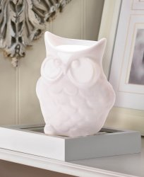 Friendly Porcelain White Owl Oil Warmer