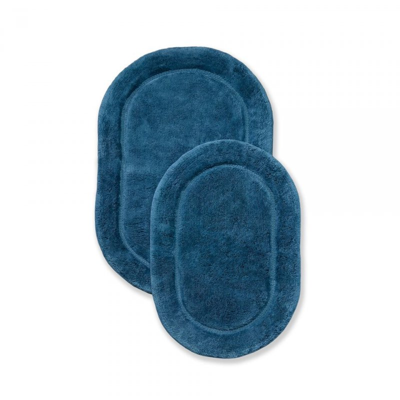 Made of combed cotton these rugs are made to last and are able to go through the washing machine without any wear and tear or fade of color. Each set comes with two bath rugs of matching color.