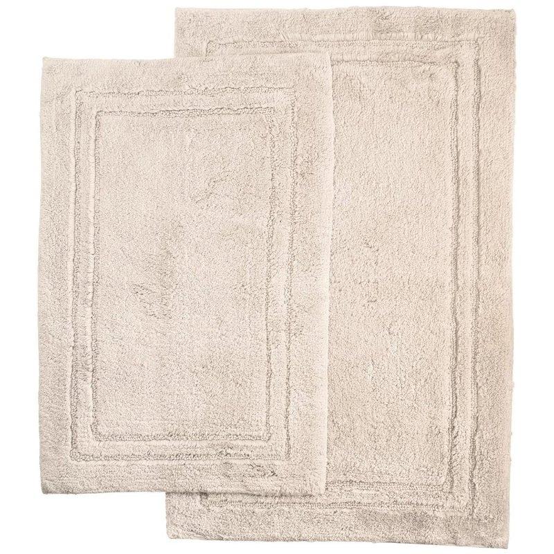 2-Piece Stone Cotton Bath Rug Set