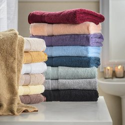 6-pc Superior 600 GSM Combed Cotton 2 Hand, 2 Bath, 2 Washcloth Towel Set