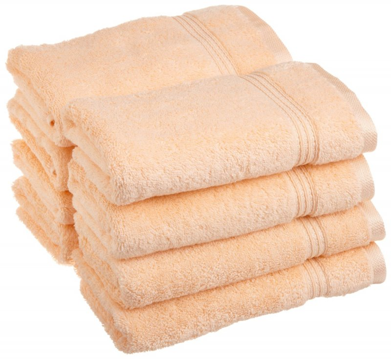 Superior 100-percent long staple cotton absorbent 600 GSM towels.