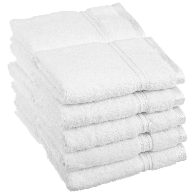 White 600 GSM 10-Piece Face Towels