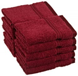 '.Burgundy 10 Washcloths.'