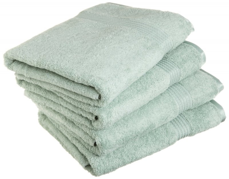 Superior 100-percent long staple combed cotton absorbent 600 GSM towels.