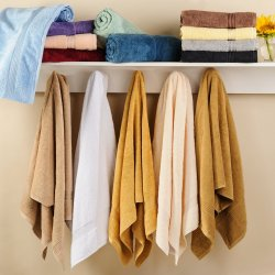 Set of 4 Superior 600 GSM Long Staple Combed Cotton Bath Towel Set