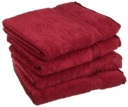 '.Burgundy 4 Bath Towels.'