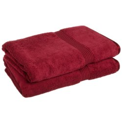 '.Burgundy 2 Bath Sheet Towels.'