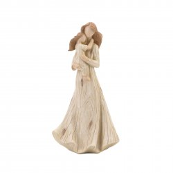 Mother Holding Young Daughter Figurine Distressed Finish