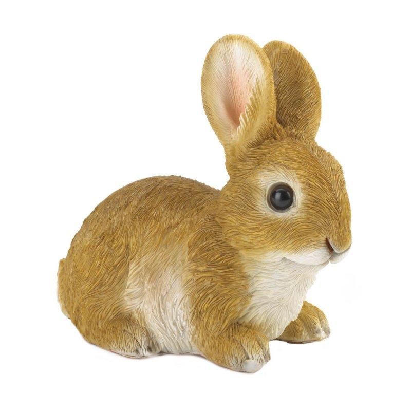 Image 1 of Sitting Bunny Rabbit  Ready to Pounce Garden Figurine
