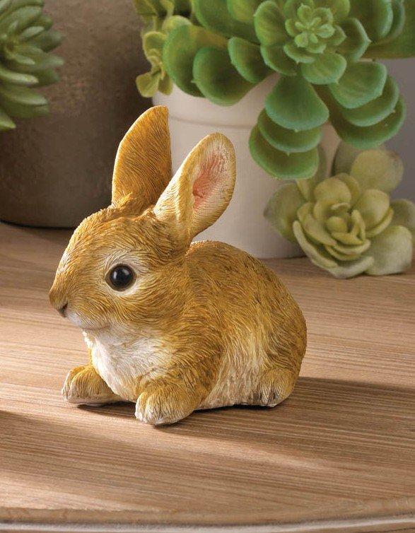Image 0 of Sitting Bunny Rabbit  Ready to Pounce Garden Figurine