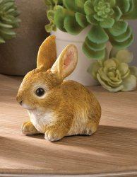Sitting Bunny Rabbit  Ready to Pounce Garden Figurine