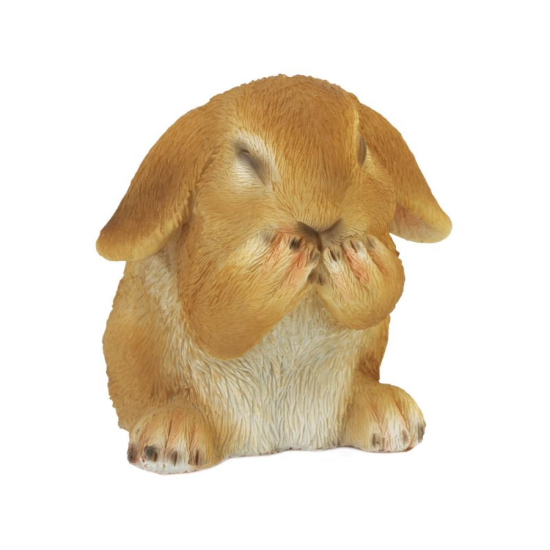 Image 1 of Giggling Bunny Rabbit Indoor or Outdoor Garden Figurine