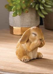 Giggling Bunny Rabbit Indoor or Outdoor Garden Figurine