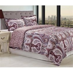 3-Piece Waterloo Multi-Color Paisley Print 300 TC Duvet Cover Set