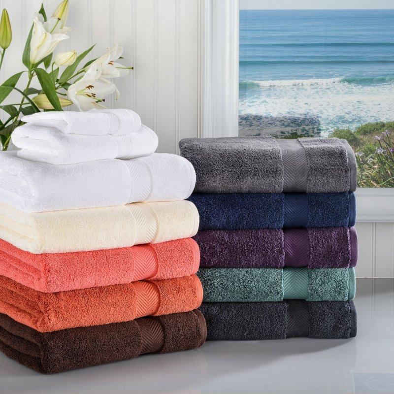 Image 0 of 3-pc Superior Zero Twist Soft Absorbent Towel, Hand Towel, Washcloth Set