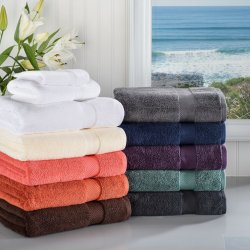 3-pc Superior Zero Twist Soft Absorbent Towel, Hand Towel, Washcloth Set