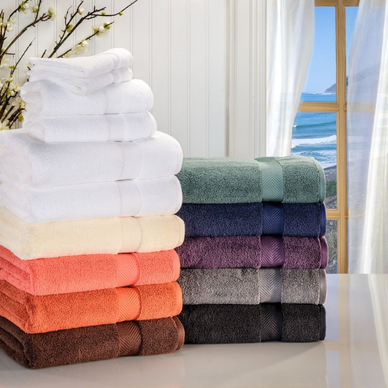 Image 0 of 6-pc Superior Zero Twist Soft Absorbent 2 Towels, Hand 2 Towels, 2 Washcloth Set