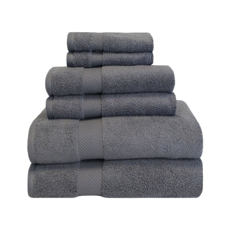 Image 9 of 6-pc Superior Zero Twist Soft Absorbent 2 Towels, Hand 2 Towels, 2 Washcloth Set