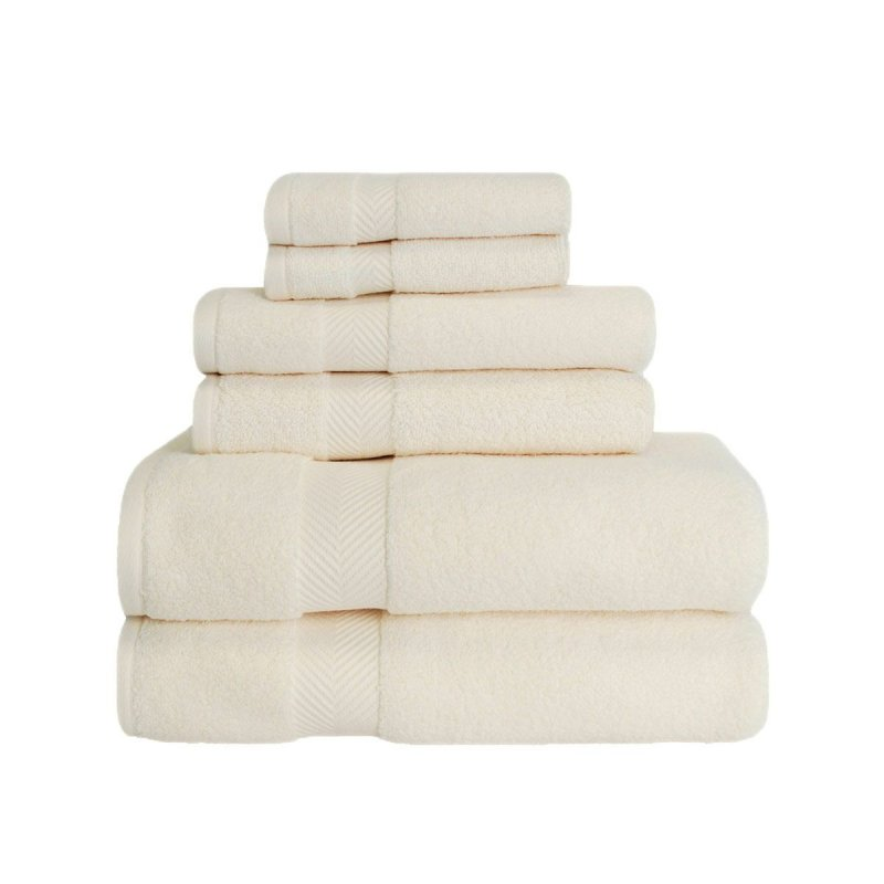 Image 11 of 6-pc Superior Zero Twist Soft Absorbent 2 Towels, Hand 2 Towels, 2 Washcloth Set