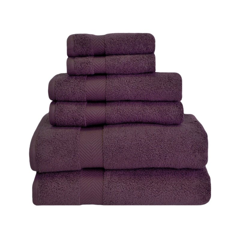 Image 7 of 6-pc Superior Zero Twist Soft Absorbent 2 Towels, Hand 2 Towels, 2 Washcloth Set