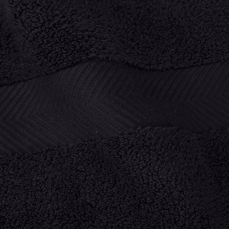 Black Zero Twist Bath Sheets.