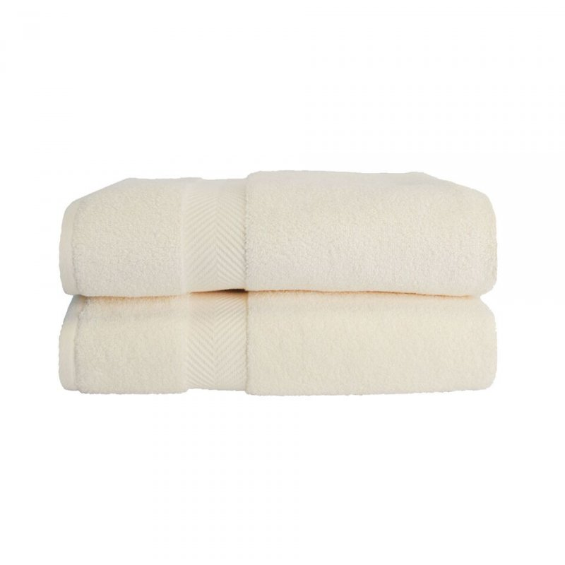 Soft and absorbent, 100% long staple cotton.