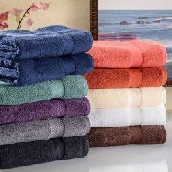 Set of 2 Zero Twist Long Staple Cotton Soft and Absorbent Bath Towels