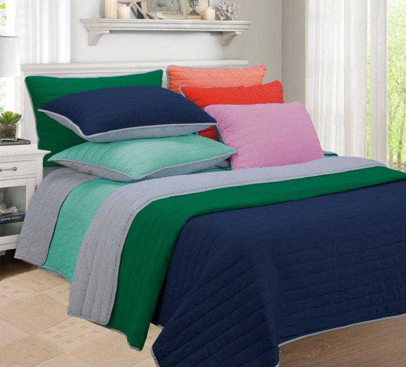 Image 0 of 3-pc Full/Queen Superior Brandon Contemporary Striped Quilt & Pillow Sham Set
