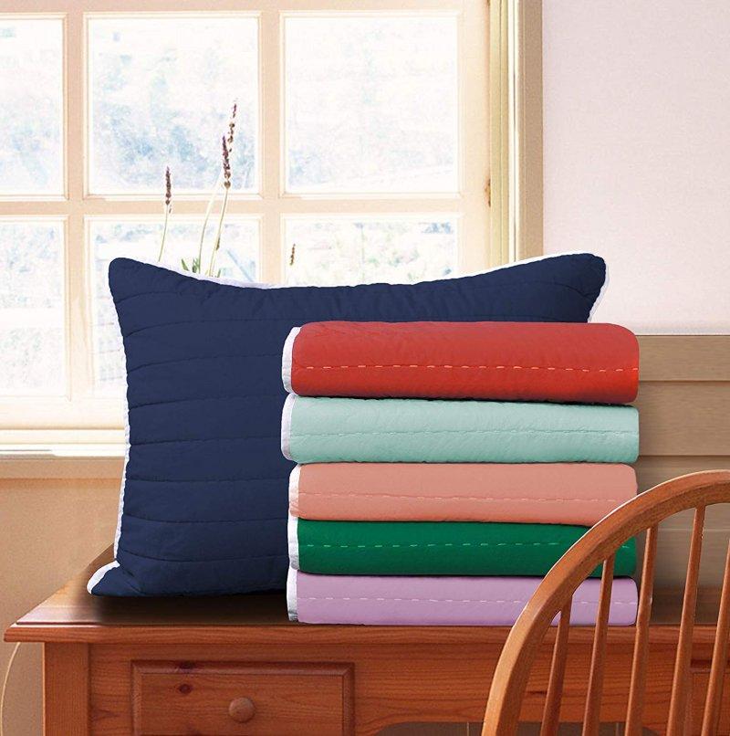 Image 1 of 3-pc Full/Queen Superior Brandon Contemporary Striped Quilt & Pillow Sham Set