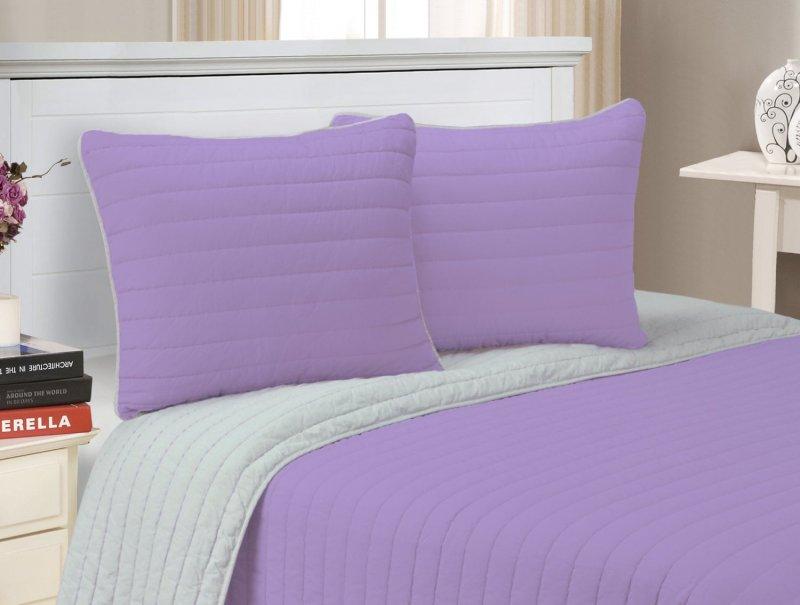 Image 2 of 3-pc Full/Queen Superior Brandon Contemporary Striped Quilt & Pillow Sham Set