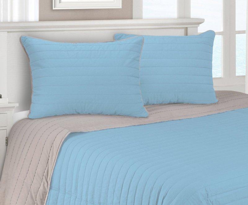 Image 4 of 3-pc Full/Queen Superior Brandon Contemporary Striped Quilt & Pillow Sham Set