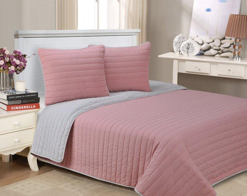 Image 6 of 3-pc Full/Queen Superior Brandon Contemporary Striped Quilt & Pillow Sham Set